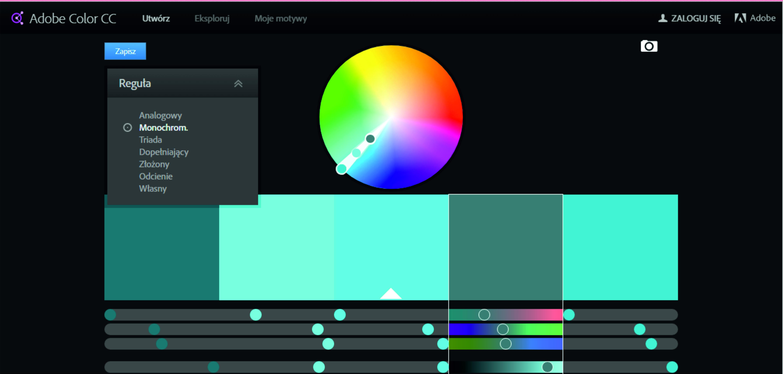 6 świetnych stron do dobierania kolorow