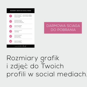 Rozmiary grafik do social media