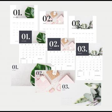 Minimalistyczne plannery, kalendarze i tapety na 2019